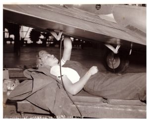 Dixie Evans as a wartime mechanic