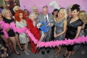 BHoF ribbon-cutting at Emergency Arts in 2010