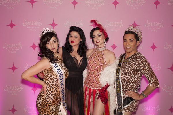 Burlesque Royalty (L to R): Miss Indigo Blue (Miss Exotic World 2011), Roxi D'Lite (Miss Exotic World 2010), Michelle L'amour (Miss Exotic World 2005), and Matt Finish (Best Boylesque 2015)