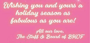 Happy Holidays from The Burlesque Hall of Fame