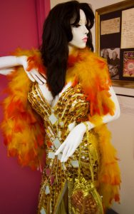 Blaze Starr's dress on display at The Burlesque Hall of Fame