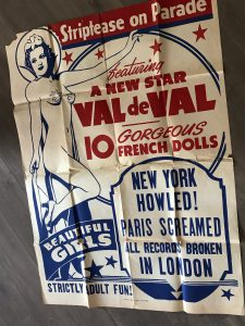 "Onesheet poster for Val de Val in ""striptease on Parade""."