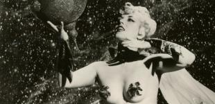 Burlesque Legend La Savona in space costume
