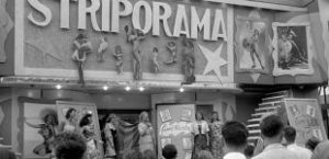 Striporama show front featuring bally of performers